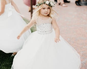 White Flower Girl Dresses Ballroom Dress Cute