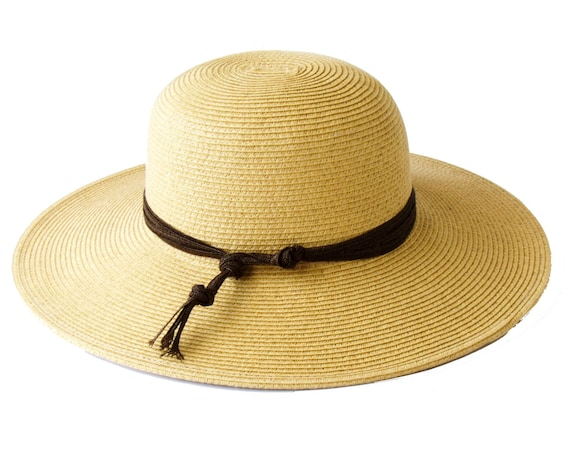 Sun Hat SPF50 Sunblock Wide Brimmed Straw Hat Crushable Hat Western Style Travel Hat Natural Tan Straw Beach Hat Festival Fashion Black Hat