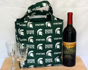 Michigan State 6 Pocket Bag For Winery Hopping, Soccer, Baseball, Lacrosse, Crafts and the Beach