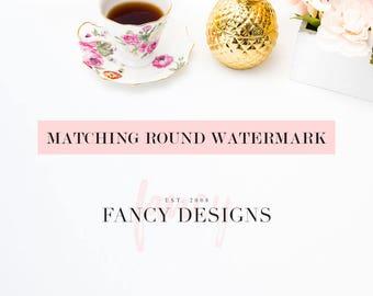 Matching Round Watermark Photography Watermark Round Submark Round Logo Photography Logo Lash Logo Realtor Logo Premade Logo Logo Stamp
