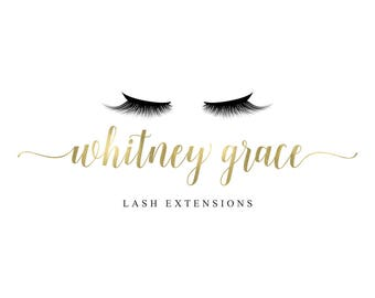 Eyelash Logo Makeup Logo Design Lash Logo Gold EyeLash Branding Set Watermark Beauty Salon Boutique Make up Artist Marketing Kit Instagram