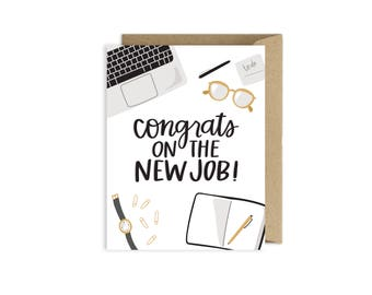 Congrats on the New Job Greeting Card