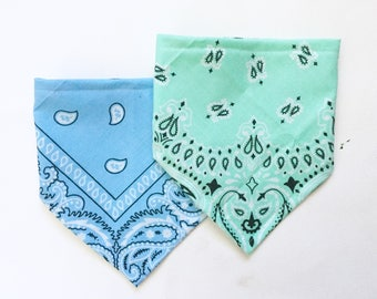 Mint Bandana Bib for Baby, Sky Blue Bibdana