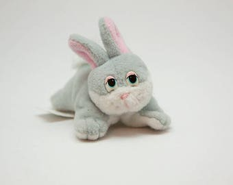 Vintage Grey Mini Pound Bunny 1996 Lewis Galoob Toys
