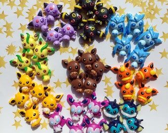 Eevee Collections - chibi charms - polymer clay - price is ONE charm only