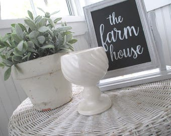 SALE * Vintage Planter * Off White Matte * HULL * Shabby Cottage * Old Farmhouse