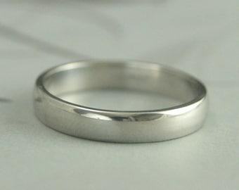 Men's Platinum Band~Men's Platinum Ring~4mm Rounded Band~Plain Jane Ring~Wide Platinum Band~Wide Platinum Ring~Platinum Wedding Ring~Thick