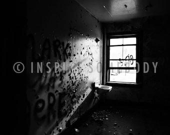 LOVER of the LIGHT 8X12 Abandoned Building Toledo Black and White Fine Art Print