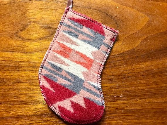 Christmas Stocking Ornament / Gift Tag / Gift Card Holder / Money Holder Wool