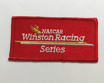 NASCAR Winston Racing Series Iron On Patch FREE SHIPPING Vintage Collectible