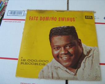 1959 rock and roll Fats Domino swings 33-1/3 rpm vinyl on Imperial  # LP-12091