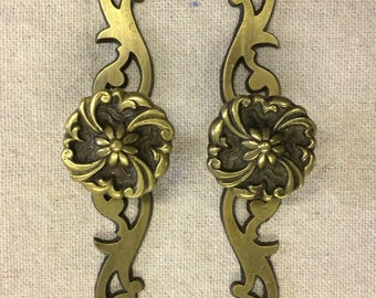 Restoration Hardware|French Escutcheon plates |Replacement Hardware | French Door Pulls| Upcycled Pulls |Vintage Antique Hardware