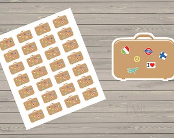 28 Vacation Stickers Planner Stickers Suitcases Travel Stickers Perfect For The Erin Condren Planner And Most Planners