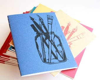 Art Journal with over 30 Prompts for Sketching and Creative Writing, Gift for Artist, Gift for Writer