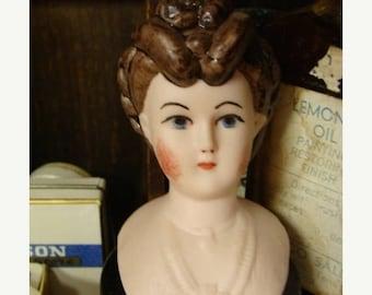 ON SALE Vintage Gorgeous Bisque/ Porcelain Shoulder Doll Head