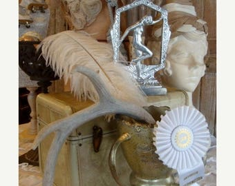 ONSALE Gorgeous Large Deer Antler Wonderful Altered Crown Christmas Display N0 47