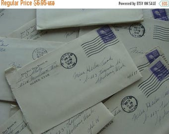 ONSALE Antique Love Letter 1940s to Miss Helen from Thomas Great for Wedding Tables