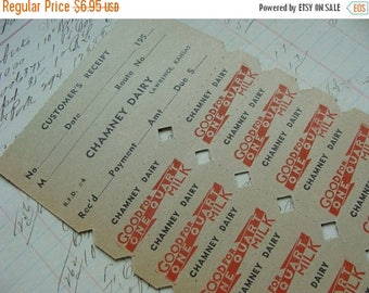 ONSALE Antique Dairy 20pc Ephemera Unused Milk Tickets 1950s