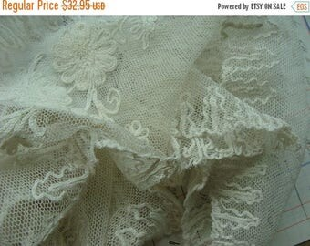 ONSALE Antique Edwardian Heirloom Tambour Brussels Intoxicating Antique Handmade Shawl Collar Downton Gatsby N048