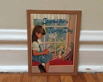 Stories for a Rainy Day Fairy Tales Vintage Book Paperback Children's Library