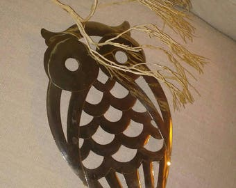 Hoot Hoot in the Tall Trees, Silver Plated Platter or Trivet at Nestbox Vintage