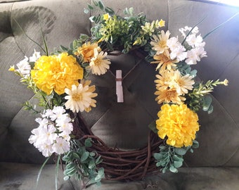 Yellow Marigold Wreath