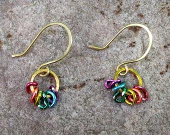 Rainbow Links earrings~FREE SHIPPING!