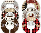 Custom Baby Closet Dividers Woodland Nursery Baby Clothes Organizers Lumberjack Decor Baby Shower Gift