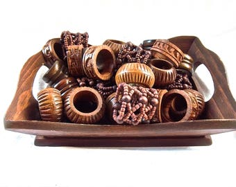 Vintage Wood Bread Tray Wooden  Napkin Ring Farmhouse Instant Home Decor Estate Collection Home and Living Decor Display Vintage Kitchen
