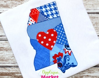 Machine Embroidery Design Embroidery Mississippi Patchwork Applique INSTANT DOWNLOAD