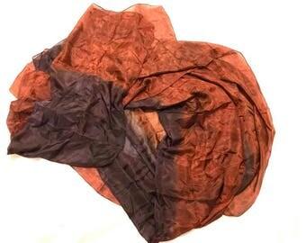 Copper and Black Silk Veil