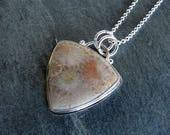 Fossil Coral Pendant in Sterling silver