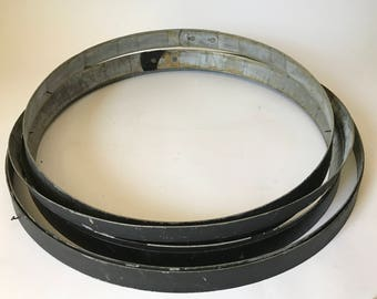 6 Galvanized Barrel Rings with Authentic Black Paint