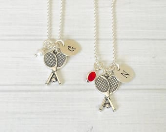 Tennis Necklace - Tennis Jewelry - Sterling Silver Tennis Racquet - Personalized Tennis Necklace - Tennis Gift