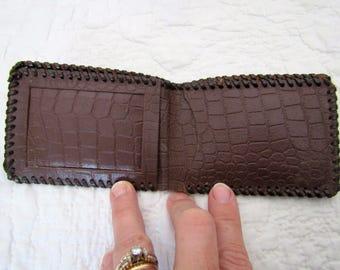Vintage Leather Wallet Brown
