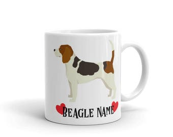Beagle Custom Name Coffee Mug