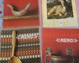 Arlene Dahl Spa Menu and Historical Norwegian Kitchen Tools Showcased in Norwegian American Lines Cruise Menus Vistafjord Sagafjord 1970s