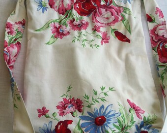 Vintage Table Cloth, Light Weight Cotton Backpack by Barneche/Stephanie Barnes