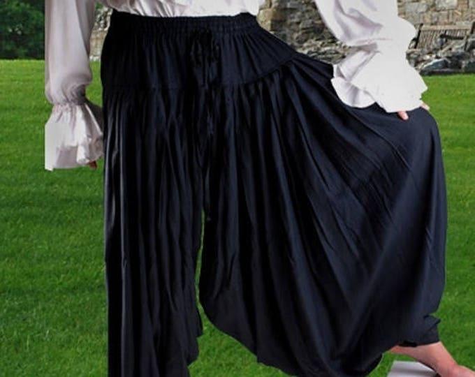 sale Men's Pants, Pirate Pants, Medevil Pants, Buccaneer Pants, Black Pants, Swashbuckler Pants, Harem Pants, Pirate Wedding Pants, Size XL