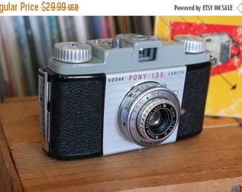 SALE 25% OFF Mid Century Kodak Pony 135 Camera with Original Box & Instructions