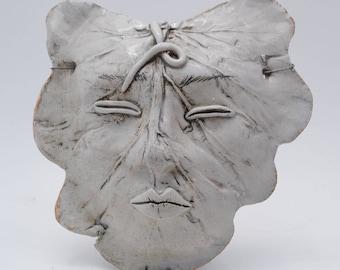 ceramic leaf mask house decoration garden art