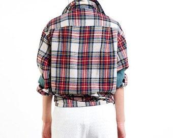 40% OFF The Vintage Boyish Girl Plaid Button Up Shirt Blouse