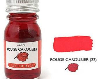 2 - Sampler Bottles of J. Herbin Fountain Pen Ink - NOW MORE COLORS!