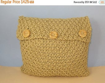 30% OFF SALE Instant Digital File pdf download knitting pattern - Superfast Chunky Double Moss Stitch Cushion Cover