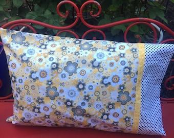 YELLOW DAISY Pillowcase - 1 each- - jumbo pillowcase - standard pillow - pillow sham - decorative