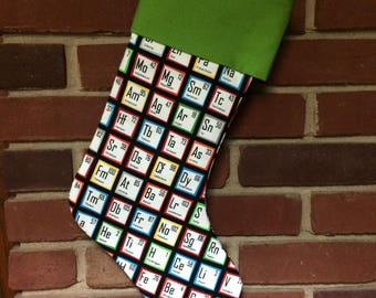 Periodic Table Stocking, Science Stocking, Nerdy Science gift