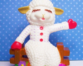 Vintage Lamb Chop Shari Lewis Collectible Figure 2 Inches Tall 1994