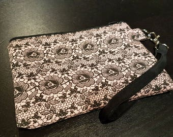 Victorian Antique Lace and Flower Wristlet