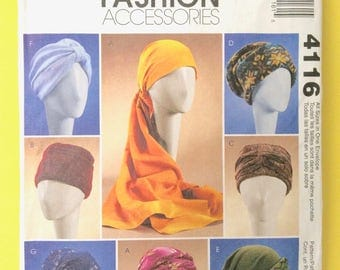 McCall's 4116 Sewing Pattern hat, headband, head wrap, turban Sewing Pattern