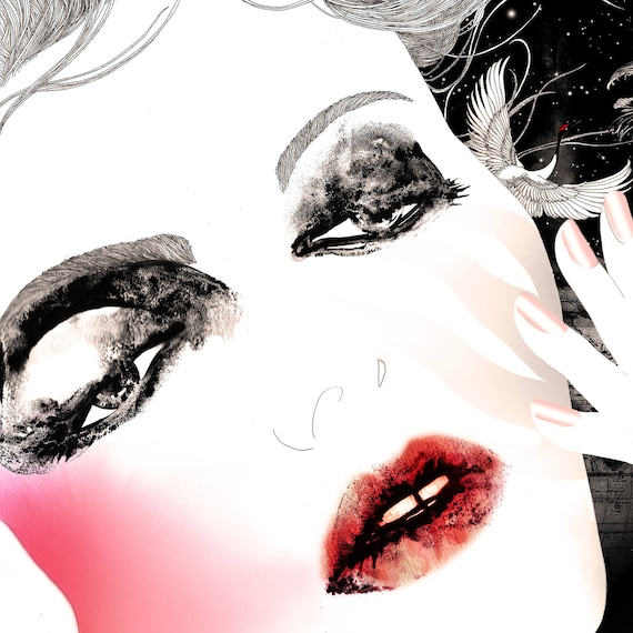 Limited edition signed prints // Fashion illustration art print // Art poster // Voyage privé 1